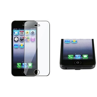 BasAcc Black Plug Cap/ Screen Protector for Apple iPhone 5/ 5S