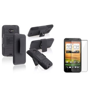 BasAcc Black/ Black Case/ LCD Protector for HTC Charger Evo 4G LTE
