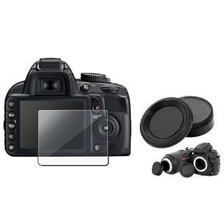 BasAcc Screen Protector/ Camera Body/ Lens Cover for Nikon D3100
