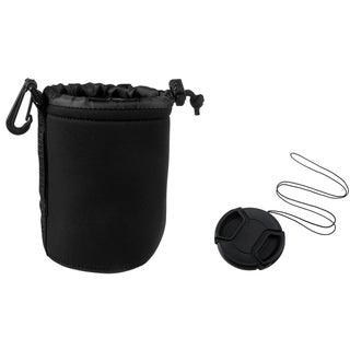 INSTEN Medium Camera Lens Bag/ 55mm Lens Cap