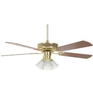Polished Brass 52-inch 3-light Ceiling Fan