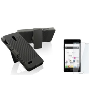 BasAcc Holster Case with Stand/ LCD Protector for LG Optimus L9 P769
