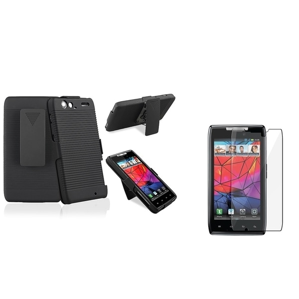 INSTEN Holster Phone Case Cover/ LCD Protector for Motorola Droid Razr XT910