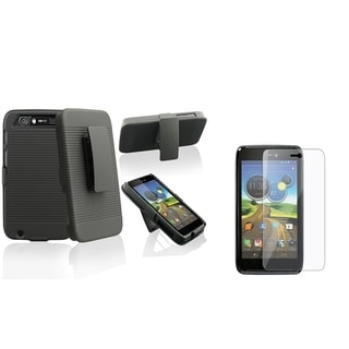 BasAcc Holster Case with Stand/ LCD Protector for Motorola Atrix 3 HD