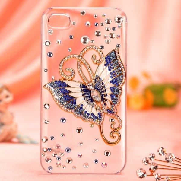 INSTEN Diamante Phone Case Cover for Apple iPhone 4S/ 4