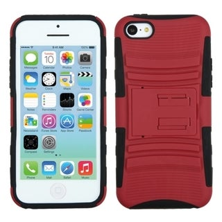 INSTEN Red/ Black Advanced Armor Stand Phone Case Cover for Apple iPhone 5C