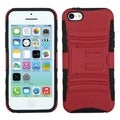 BasAcc Red/ Black Advanced Armor Stand Case for Apple iPhone 5C