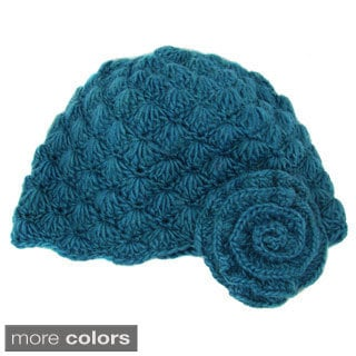 Handwoven Mollie Flower Cloche Hat (Nepal)
