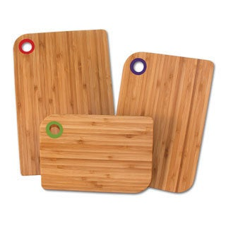 Totally Bamboo 3-piece Colors Cutting Board Set