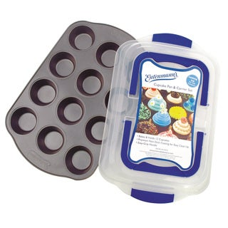 Entenmann's Classic Bakeware Series 12-cup Muffin Pan with Cover