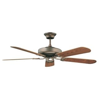 Decorama Oil Rubbed Bronze Two-light Ceiling Fan