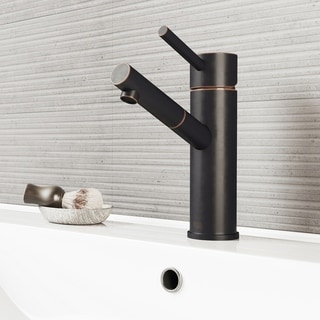 Vigo Noma Antique Rubbed Bronze Finish Single-lever Faucet and Matching Pop-up