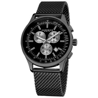 Akribos XXIV Men's Chronograph Tachymeter Stainless Steel Bracelet Watch