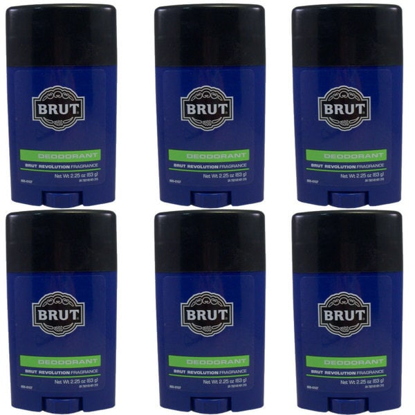 Brut Revolution 2.25-ounce Deodorant (Pack of 6)