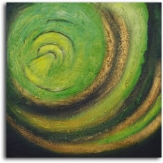 'The Green Abyss' Hand Painted Oil Painting