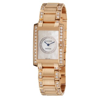 Concord Women's 'Delirium' 18k Rose Gold Swiss Quartz Watch