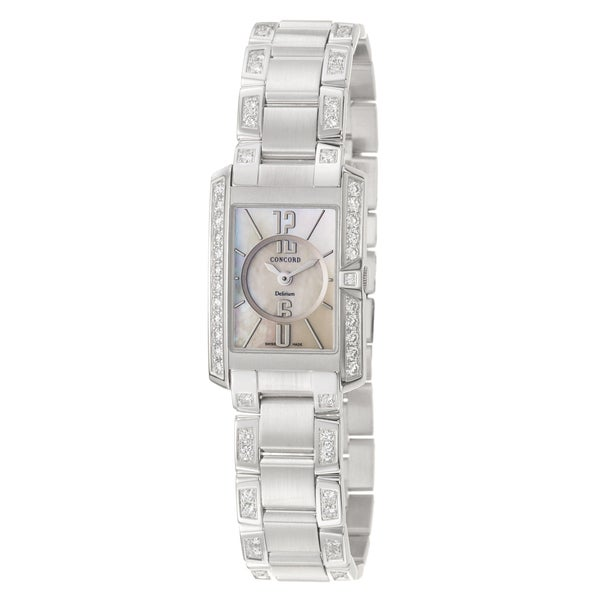 Concord Women's 'Delirium' 18K White-gold Accented Swiss Quartz Watch