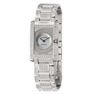 Concord Women's 'Delirium' 18k White Gold Swiss Quartz Watch