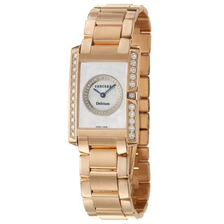 Concord Women's 'Delirium' 18K Rose Gold Diamond-accented Swiss Quartz Watch