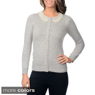 Yal Women's Pearl Trim Cardigan
