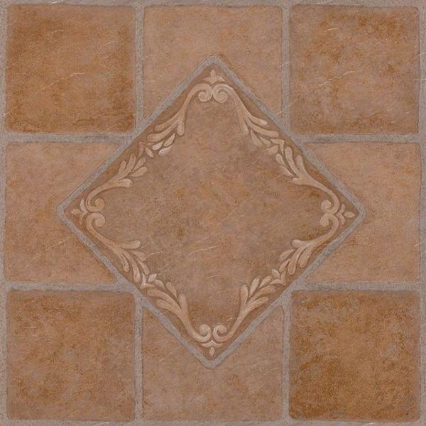 Nexus South West Ceramic 12x12 Self Adhesive Vinyl Floor Tile - 20 Tiles/20 sq Ft. 11955927
