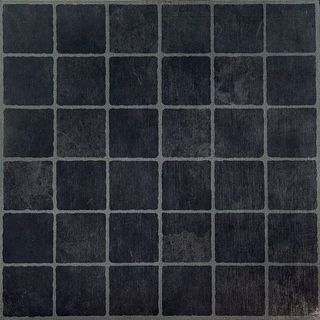 Nexus Dark Slate Checker Board 12x12-inch Self Adhesive Vinyl Floor Tiles (Case of 20)
