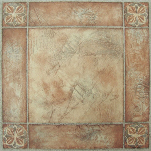 Nexus spanish rose 12x12 self adhesive vinyl floor tile for 12x12 floor tile designs