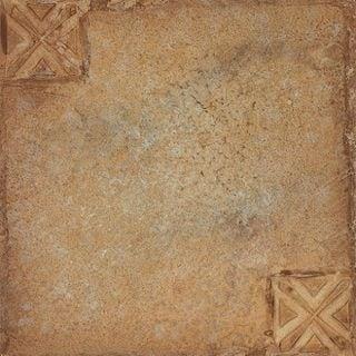 12x12 Nexus Beige Clay with Motif Self Adhesive Vinyl Floor Tiles