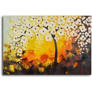 'Moonlight blooms unearthed' Hand Painted Oil Painting