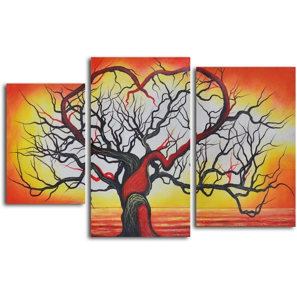 'The love of trees' 3-piece Hand Painted Oil Painting 11955955
