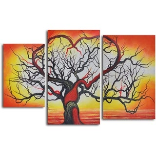 'The love of trees' 3-piece Hand Painted Oil Painting