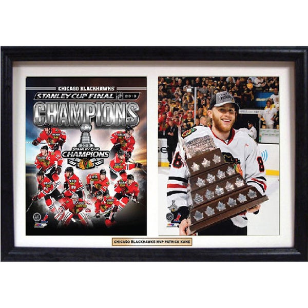 Chicago Blackhawks Patrick Kane 18 x 12-inch Double Custom Frame 11956054