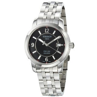 Tissot Men's Black Dial Stainless Steel Quartz Watch
