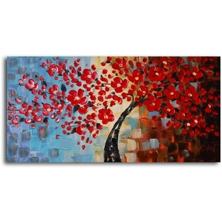 'Bouquet of textured red' Hand Painted Oil Painting