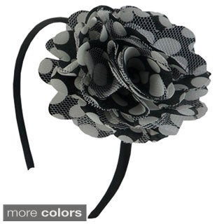Polka Dot Flower Headband