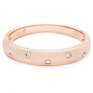 Diamonds for a Cure 14k Rose Gold Diamond Accent Stackable Band
