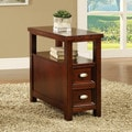 Cherry Finish Wooden End Table and Drawer