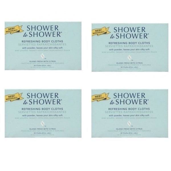Shower to Shower Refreshing Body Cloths (Pack of 4)