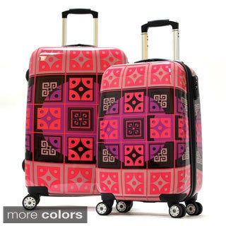 Olympia 'New Age' Art Series 2-piece Hardside Spinner Luggage Set