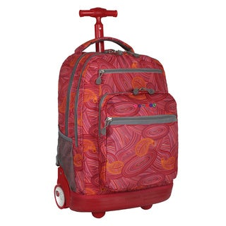 J World New York Paisley Sundance Rolling Laptop Backpack