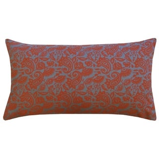 14 x 24-inch Rust Orange Petit Paisley Throw Pillow (India)