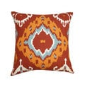 20 x 20-inch Dijon Ikat Throw Pillow (India)