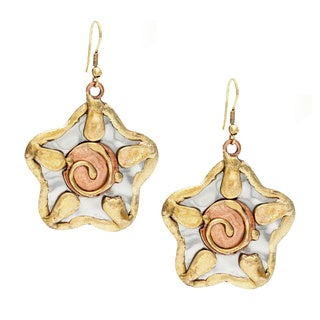 Handmade Sun Design Stainless Steel Earrings (India)