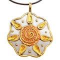 Handmade Sun Image Stainless Steel Necklace (India)