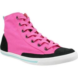Women's Burnetie High Top Vintage 003233 Hot Pink