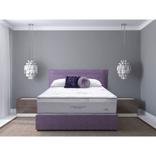 Laura Ashley Azalea Cushion Firm Twin-size Mattress and Foundation Set