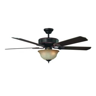 52-inch Heritage Fan With Oil Rubbed Bronze Bowl