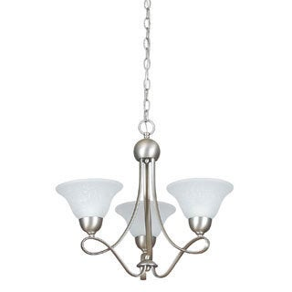 Palisades Satin Nickel Chandelier