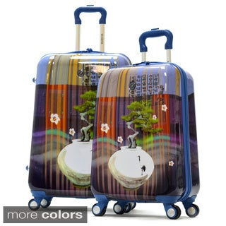 Olympia Arirang Art Series 2-piece Hardside Spinner Luggage Set