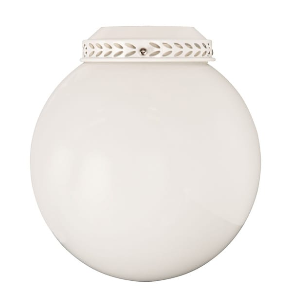 CFL White Opal Glass Ball Lights